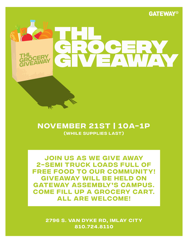 Grocery giveaway flyer